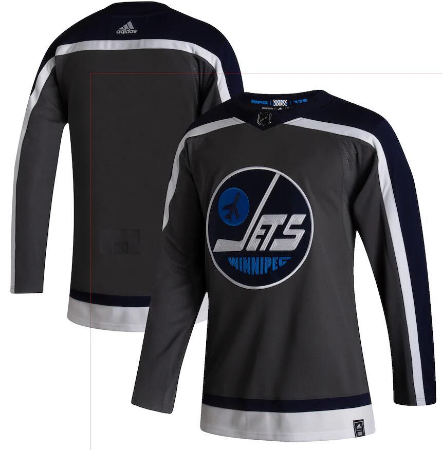 Jets Blank Gray 2020-21 Reverse Retro Adidas Jersey