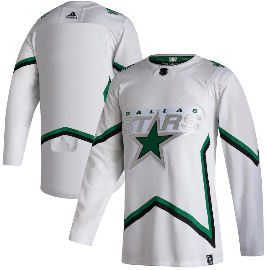 Stars Blank White 2020-21 Reverse Retro Adidas Jersey
