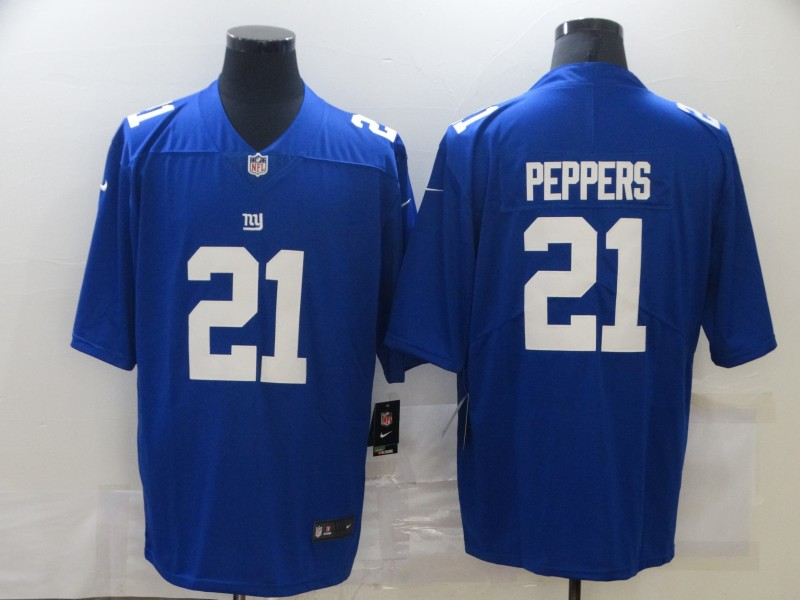Nike Giants 21 Jabrill Peppers Royal Vapor Untouchable Limited Jersey