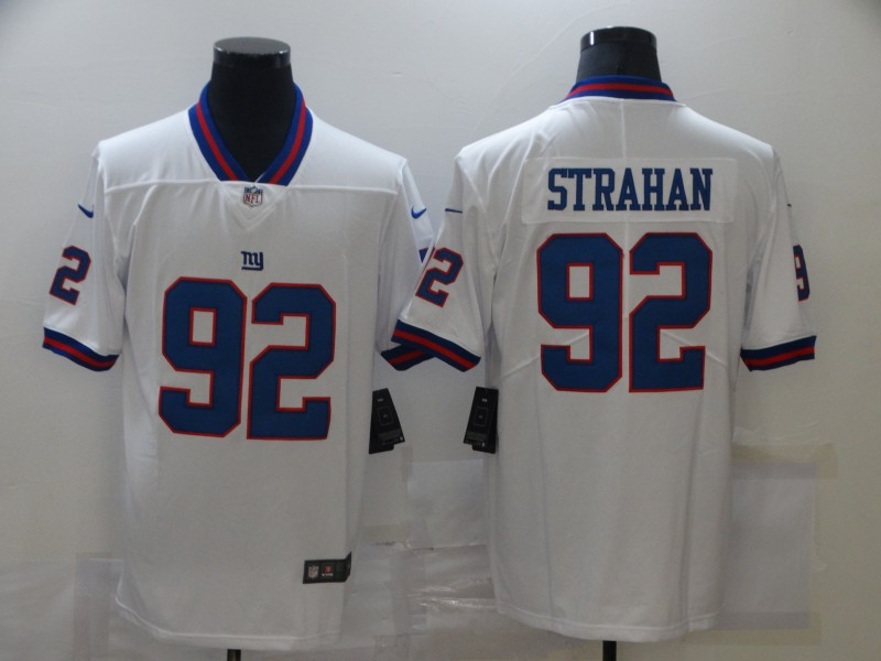 Nike Giants 92 Michael Strahan White Color Rush Limited Jersey