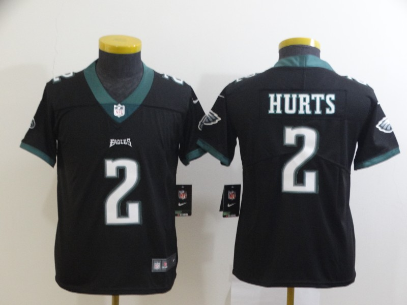 Nike Eagles 2 Jalen Hurts Black Youth Vapor Untouchable Limited Jersey