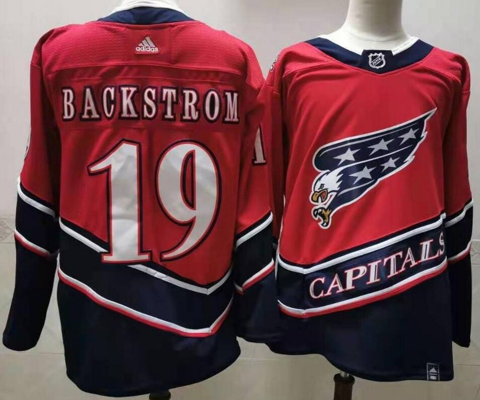 Capitals 19 Nicklas Backstrom Red 2020-21 Reverse Retro Adidas Jersey