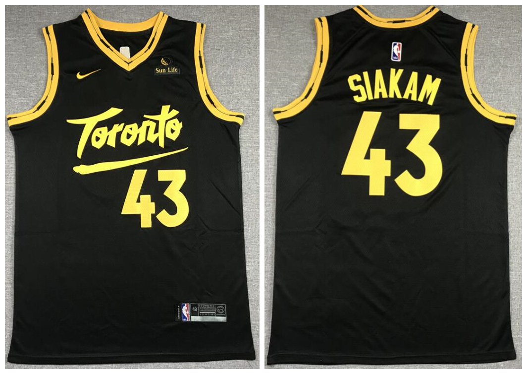Raptors 43 Pascal Siakam Black 2021 City Edition Nike Swingman Jersey