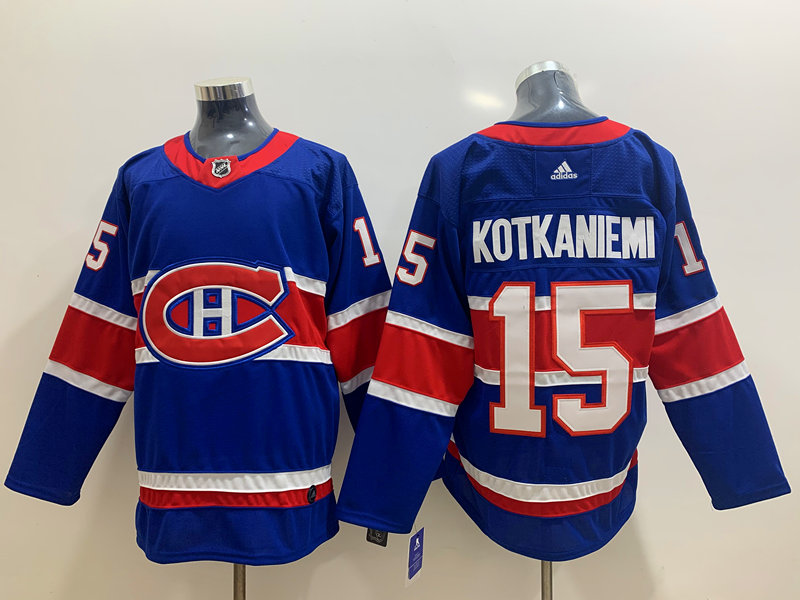 Canadiens 15 Jesperi Kotkaniemi Blue 2020-21 Reverse Retro Adidas Jersey