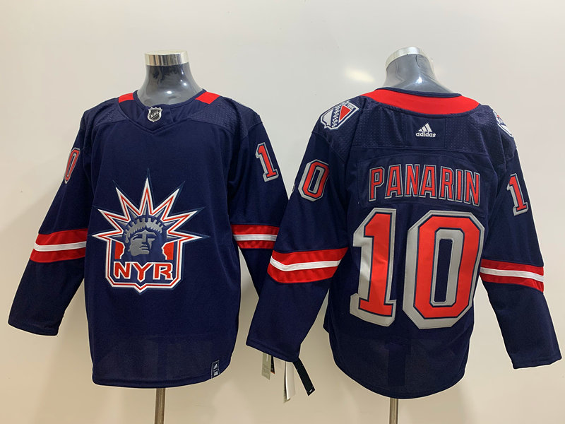 Rangers 10 Artemi Panarin Navy 2020-21 Reverse Retro Adidas Jersey