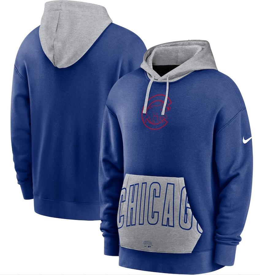Men's Boston Red Sox Nike Navy Gray Heritage Tri Blend Pullover Hoodie