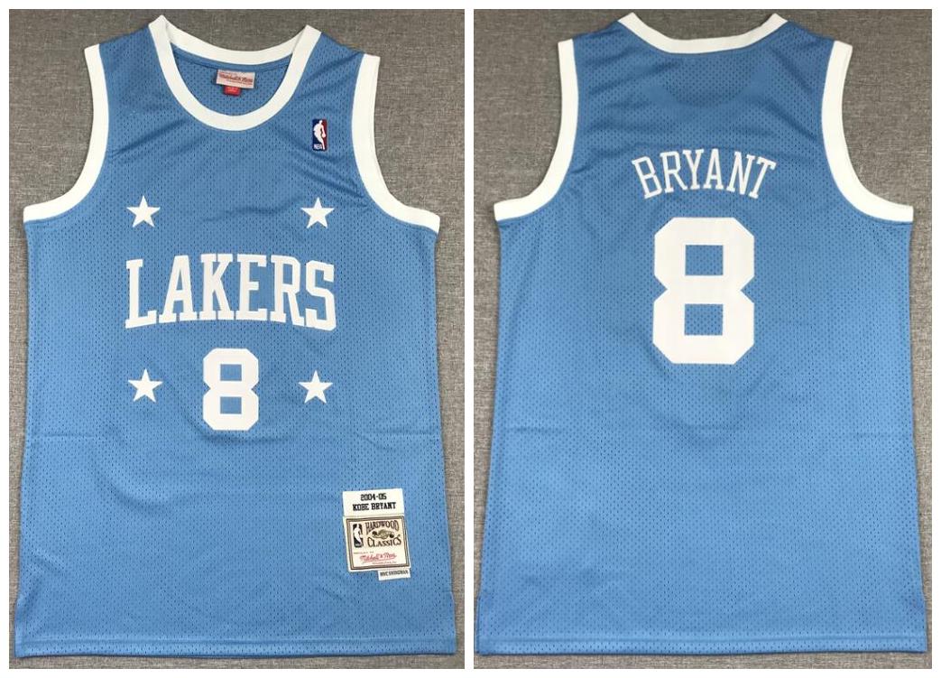 Lakers 8 Kobe Bryant Blue 2004-05 Hardwood Classics Jersey