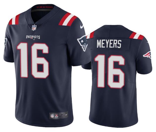 Nike Patriots 16 Jakobi Myers Navy Vapor Untouchable Limited Jersey