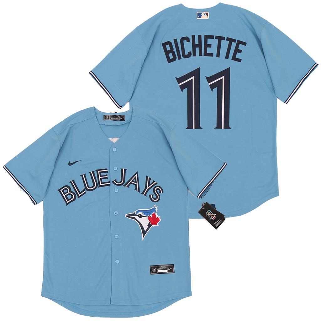 Blue Jays 11 Bo Bichette Light Blue 2020 Nike Cool Base Jersey
