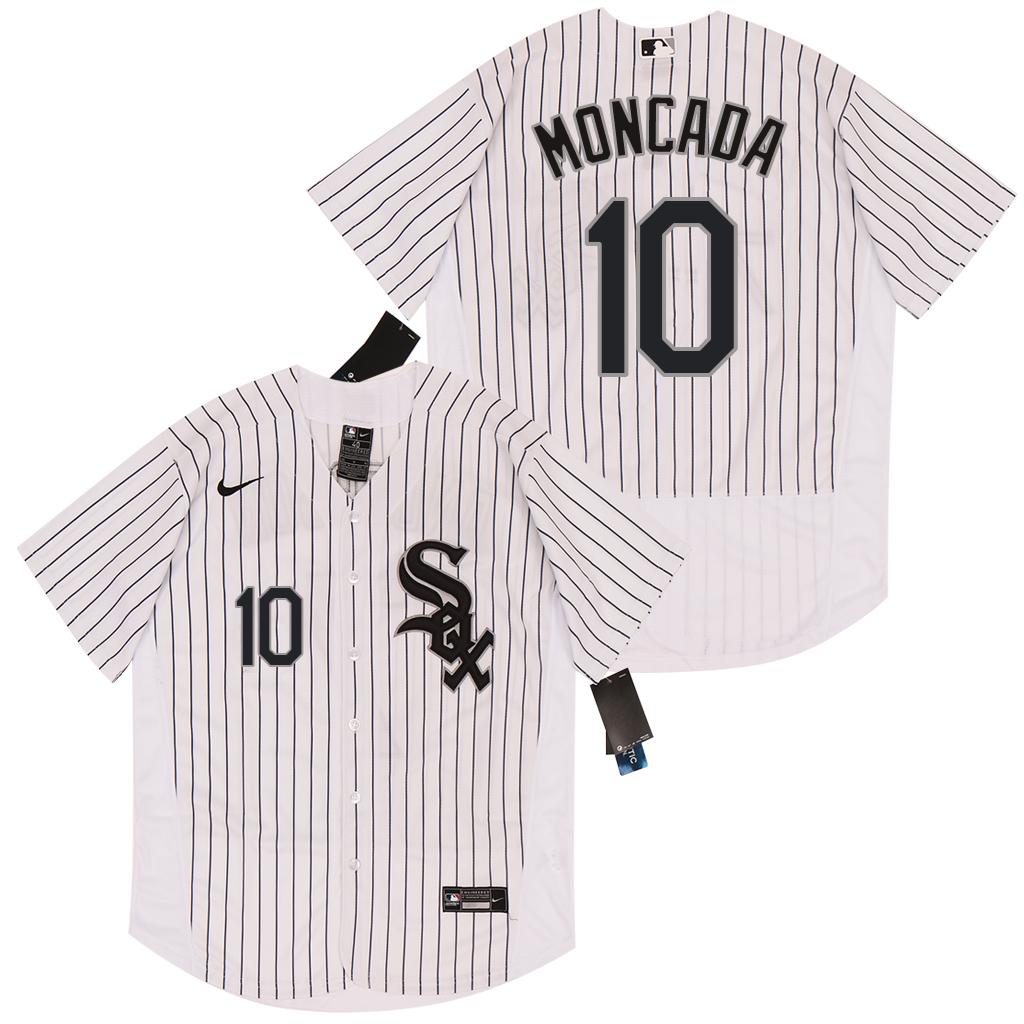 White Sox 10 Yoan Moncada White 2020 Nike Flexbase Jersey