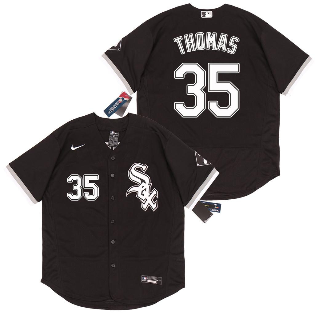 White Sox 35 Frank Thomas Black 2020 Nike Flexbase Jersey
