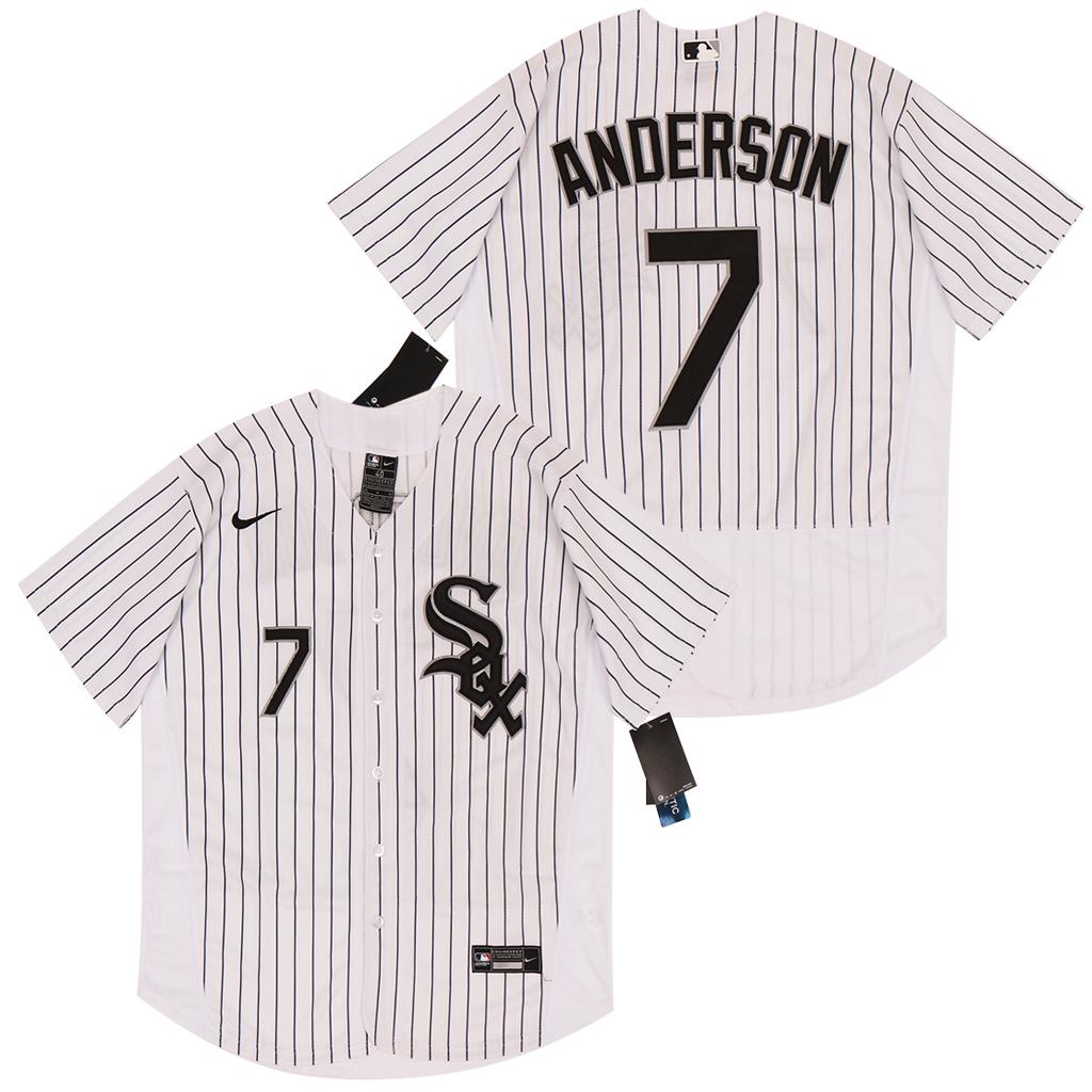 White Sox 7 Tim Anderson White 2020 Nike Flexbase Jersey