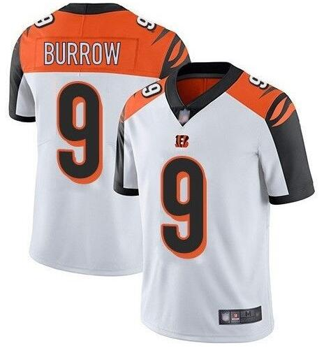 Nike Bengals 9 Joe Burrow White Black 2020 NFL Draft First Round Pick Vapor Untouchable Limited Jersey