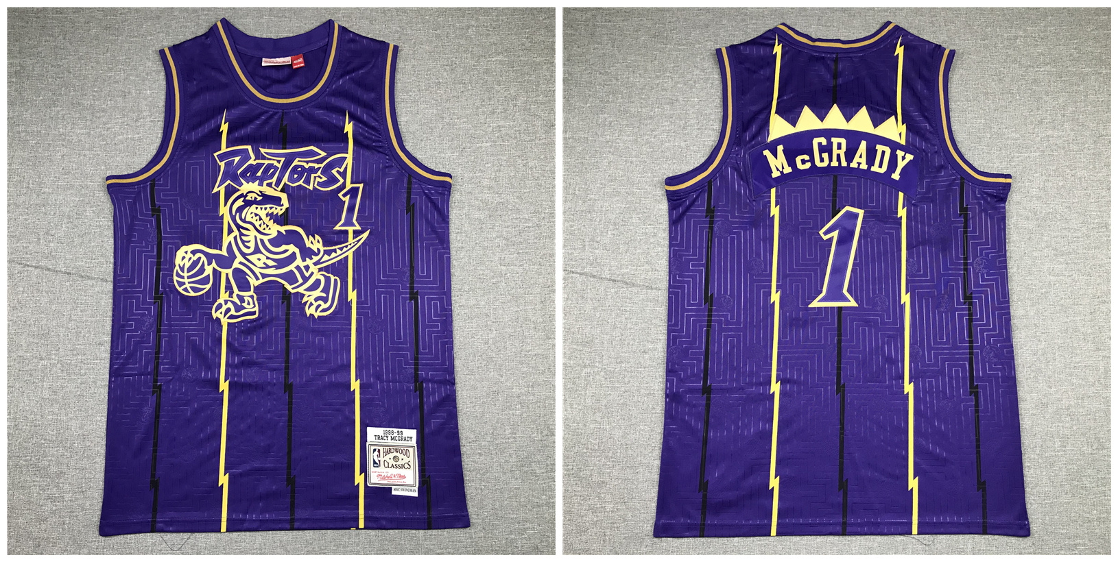 Raptors 1 Tracy McGrady Purple 1998-99 Hardwood Classics Jersey