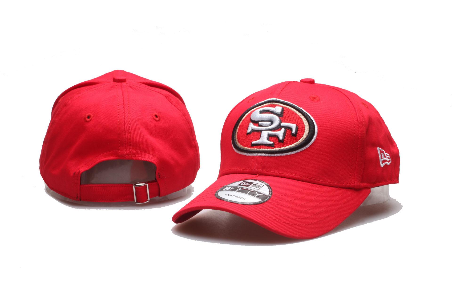 49ers Team Logo Red Peaked Adjustable Hat YP