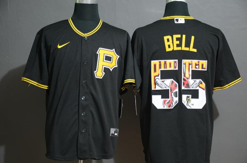 Pirates 55 Josh Bell Black 2020 Nike Cool Base Fashion Jersey