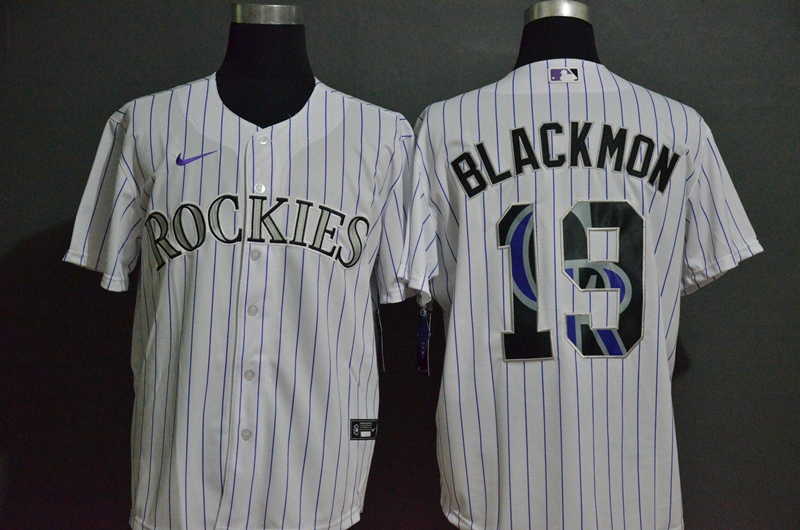 Rockies 19 Charlie Blackmon White 2020 Nike Cool Base Fashion Jersey