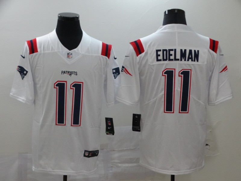 Nike Patriots 11 Julian Edelman White 2020 New Vapor Untouchable Limited Jersey