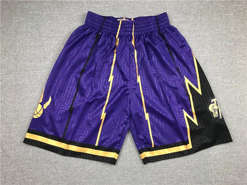 Raptors Purple Stitched Shorts