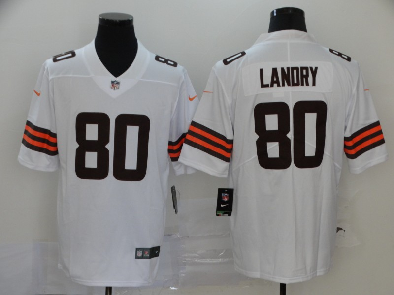 Nike Browns 80 Jarvis Landry White 2020 New Vapor Untouchable Limited Jersey