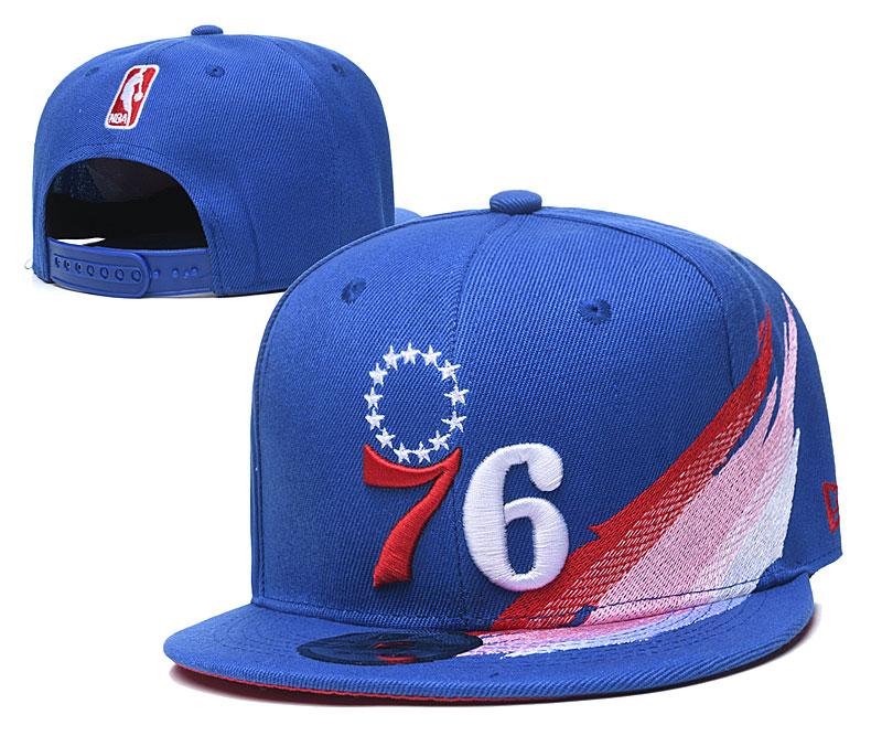 76ers Fresh Logo Blue Adjustable Hat YD