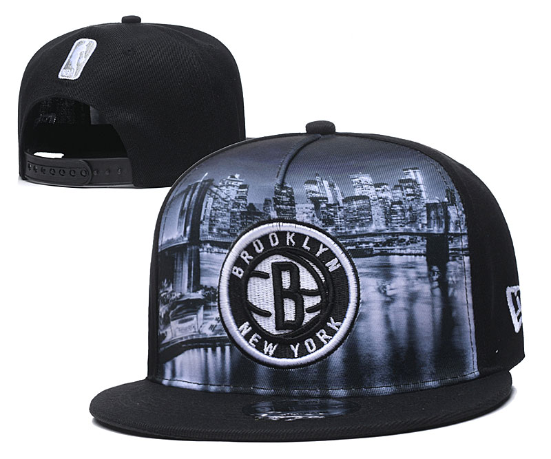 Nets Fresh Logo Black Adjustable Hat YD