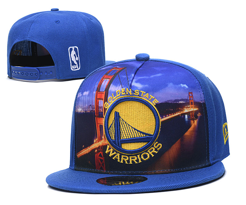 Warriors Fresh Logo Blue Adjustable Hat YD