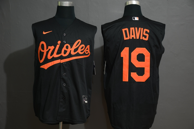 Orioles 19 Chris Davis Black Nike Cool Base Sleeveless Jersey