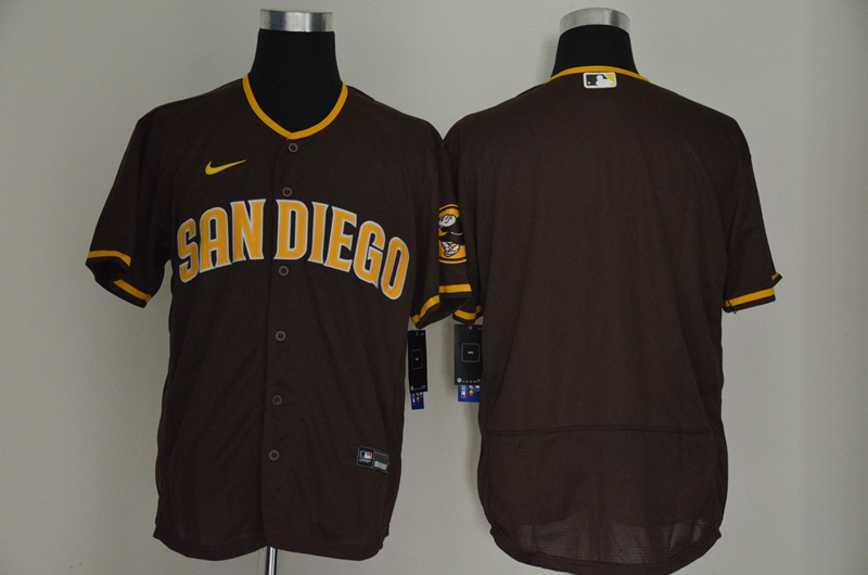 Padres Blank Brown Nike 2020 Cool Base Jersey
