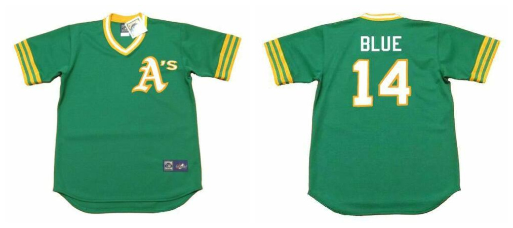Athletics 14 Vida Blue Green 1973's Throwback Cool Base Jersey