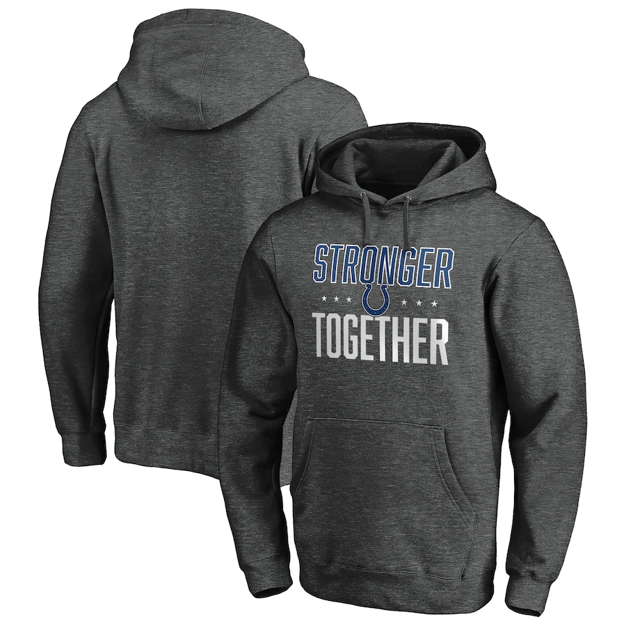 Indianapolis Colts Heather Charcoal Stronger Together Pullover Hoodie