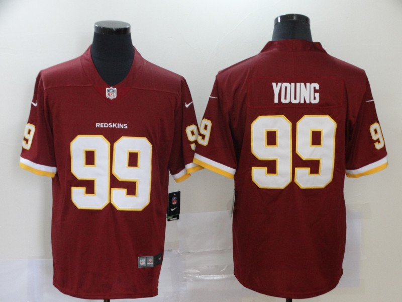 Nike Redskins 99 Chase Young Red 2020 NFL Draft First Round Pick Vapor Untouchable Limited Jersey