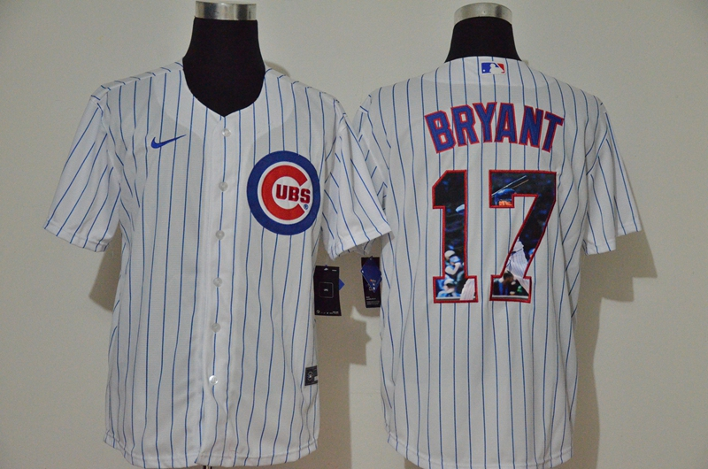 Cubs 17 Kris Bryant White Nike Cool Base Player Jersey