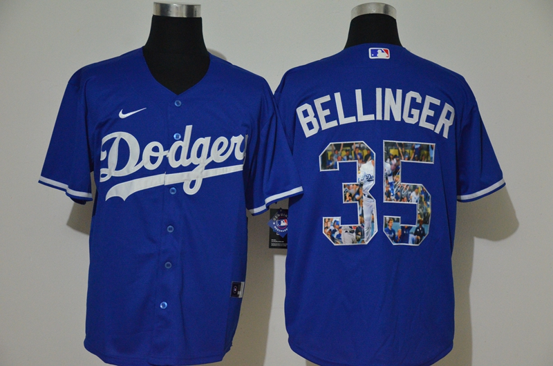 Dodgers 35 Cody Bellinger Royal Nike Cool Base Player Jersey