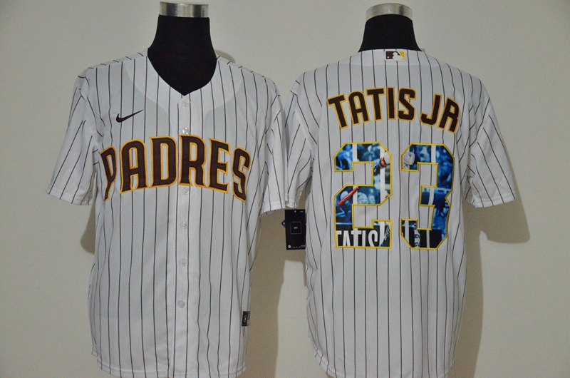 Padres 23 Fernando Tatis Jr. White Nike Cool Base Player Jersey