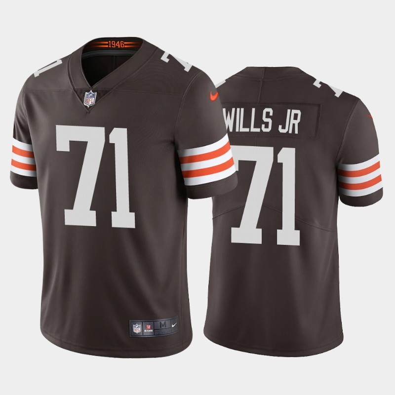 Nike Browns 71 Jedrick Wills Jr. Brown 2020 NFL Draft First Round Pick Vapor Untouchable Limited Jersey