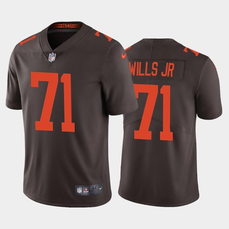 Nike Browns 71 Jedrick Wills Jr. Brown Alternate 2020 NFL Draft First Round Pick Vapor Untouchable Limited Jersey