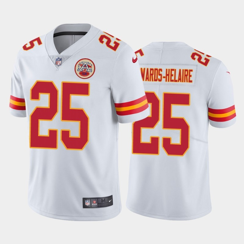 Nike Chiefs 25 Clyde Edwards-Helaire White 2020 NFL Draft First Round Pick Vapor Untouchable Limited Jersey