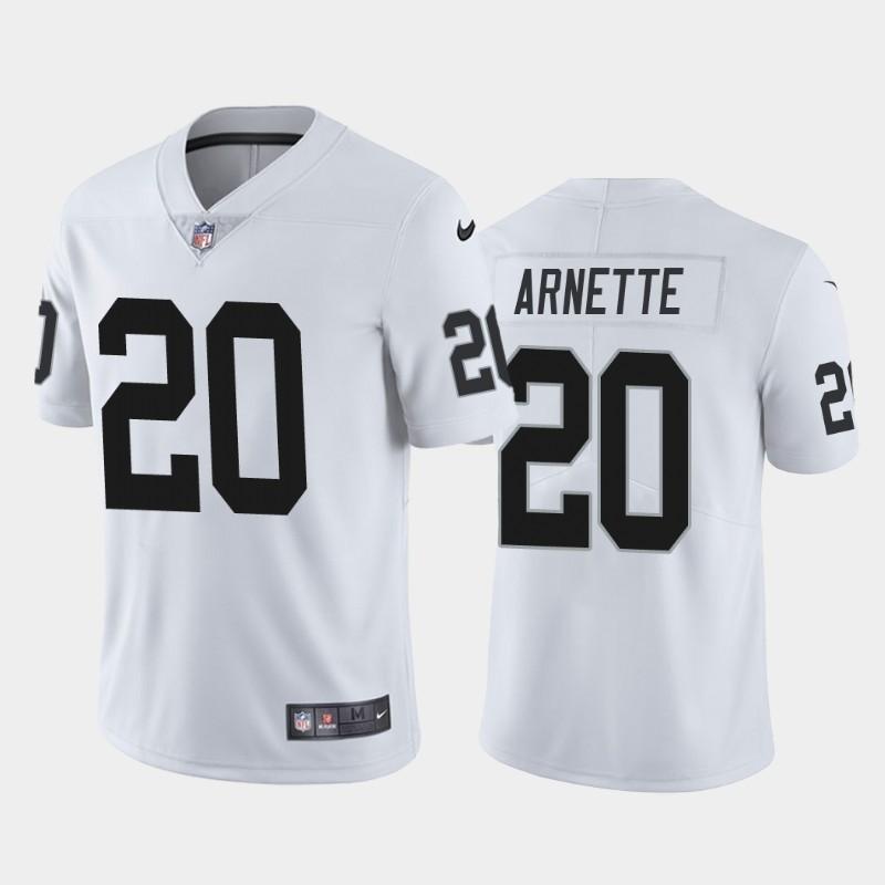 Nike Raiders 20 Damon Arnette White 2020 NFL Draft First Round Pick Vapor Untouchable Limited Jersey