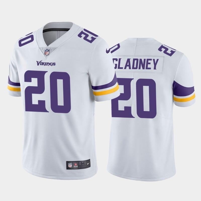Nike Vikings 20 Jeff Gladney White 2020 NFL Draft First Round Pick Vapor Untouchable Limited Jersey