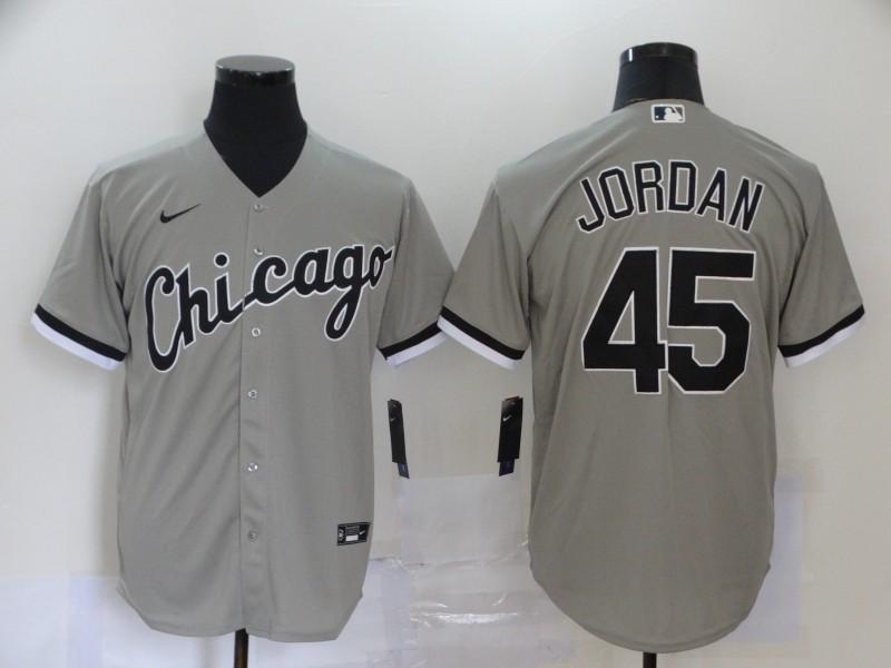 White Sox 45 Michael Jordan Gray 2020 Nike Cool Base Jersey