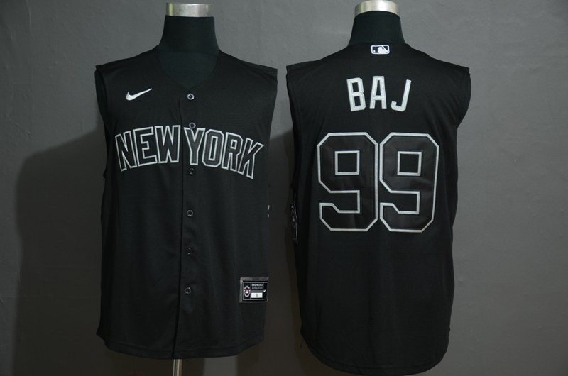 Yankees 99 Aaron Judge Black Nike Cool Base Sleeveless Jersey