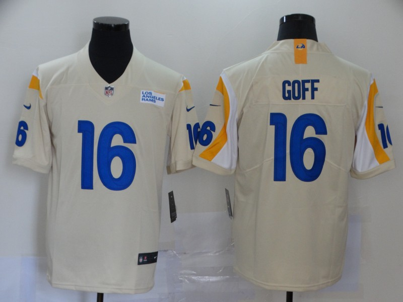 Nike Rams 16 Jared Goff Bone 2020 New Vapor Untouchable Limited Jersey