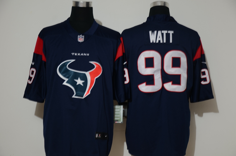 Nike Texans 99 J.J. Watt Navy Vapor Untouchable Limited Jersey