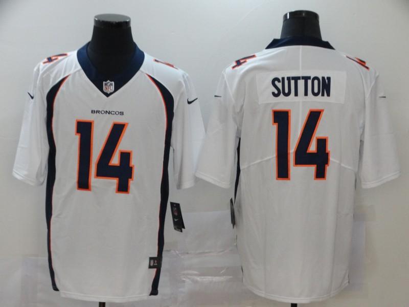 Nike Broncos 14 Courtland Sutton White Vapor Untouchable Limited Jersey