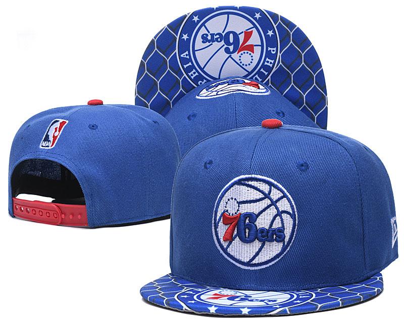 76ers Team Logo Blue Adjustable Hat TX