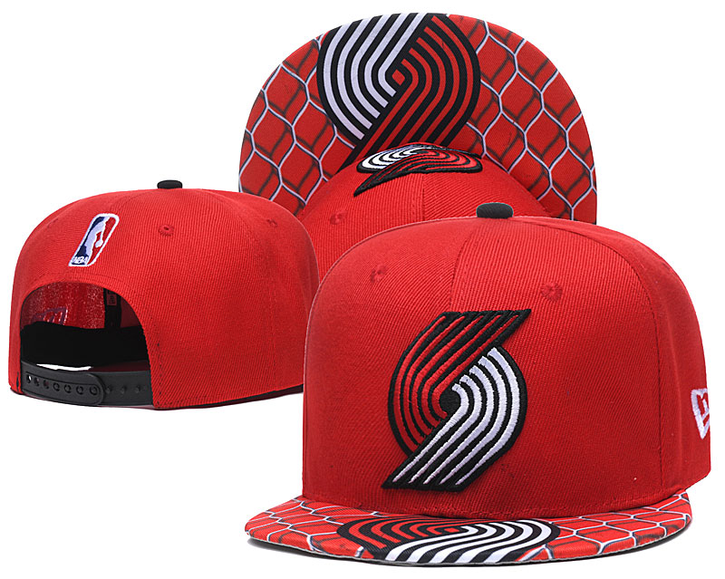 Blazers Team Logo Red Adjustable Hat TX