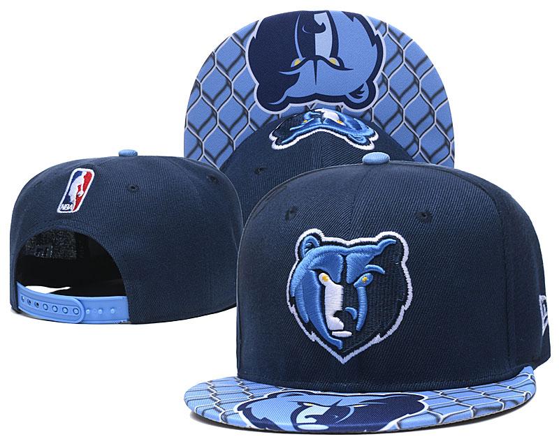 Grizzlies Team Logo Navy Adjustable Hat TX