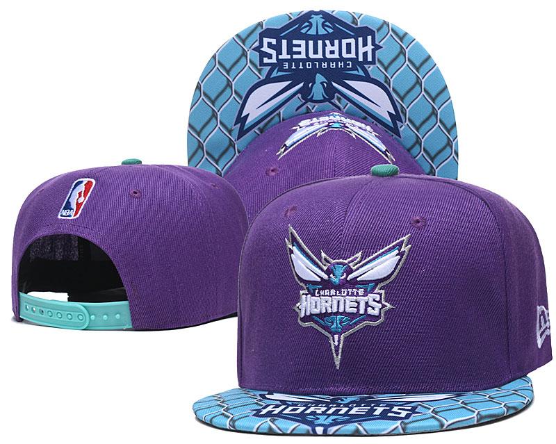 Hornets Team Logo Purple Adjustable Hat TX