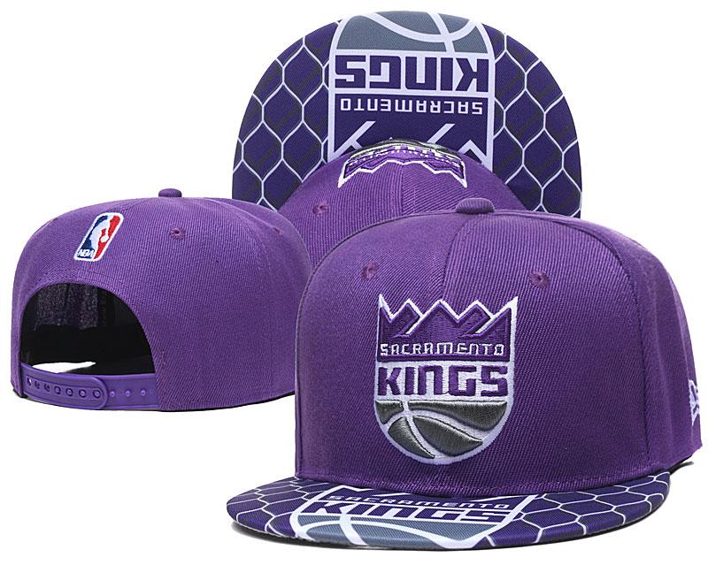 Kings Team Logo Purple Adjustable Hat TX